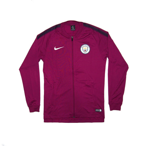 NIKE Official 2017-2018 Manchester City Dry Squad Jacket 854773-665 True Berry