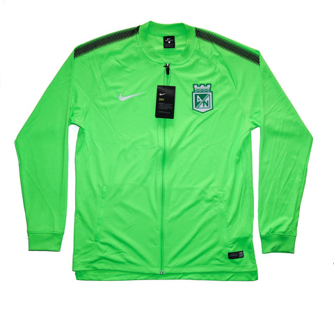 NIKE Official 2017-2018 Atletico Nacional Dry Squad Jacket Green