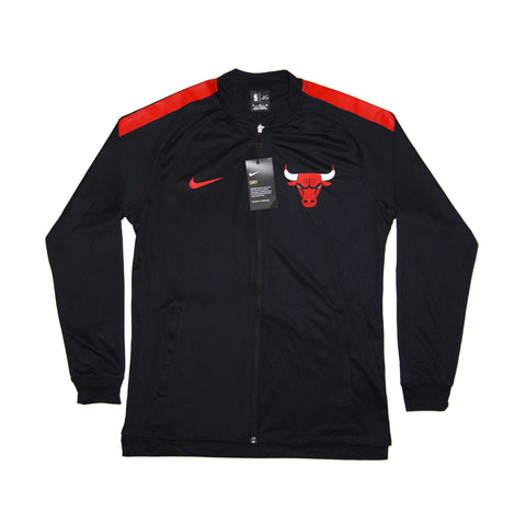 NIKE Official 2017/18 NBA Chicago Bulls Dry Squad Jacket 923080-010 Black