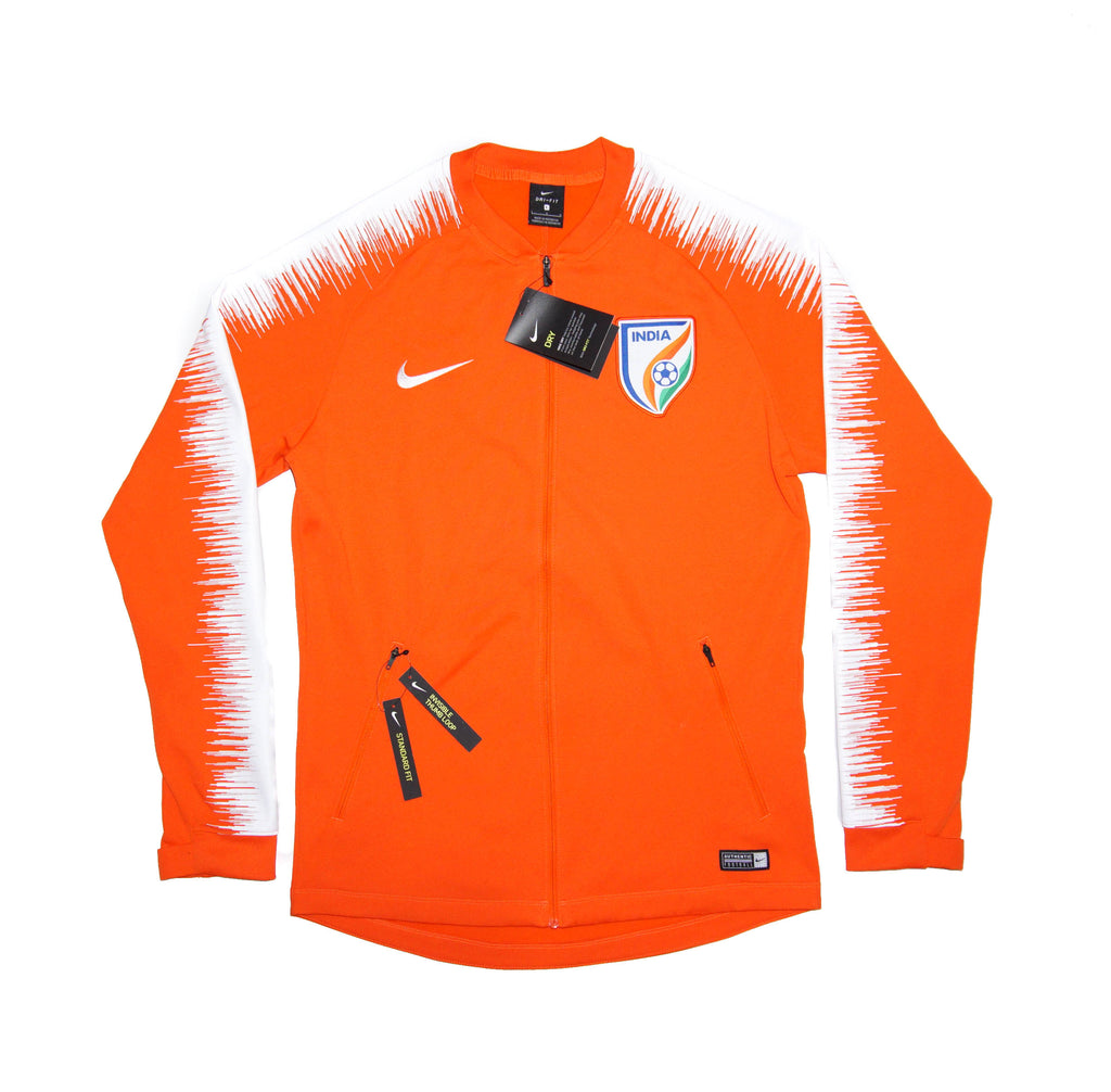 NIKE Official 2018 19 India National Football Team Anthem Jacket 898907-819  Orange 9207d8fa2