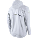Nike NFL Dallas Cowboys Champ Drive Vapor Speed Fly Rush Flash Half-Zip Pullover Jacket White
