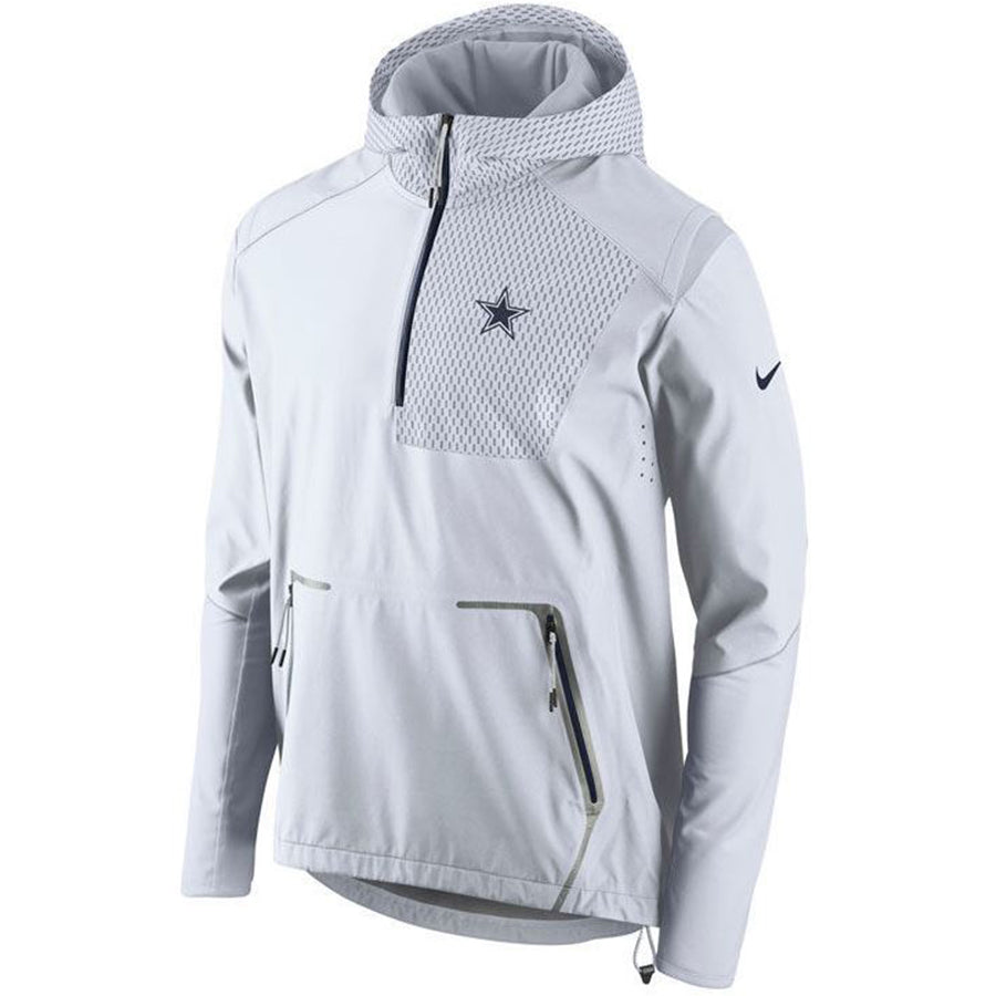 best website 3e45a 0c4fa Nike NFL Dallas Cowboys Champ Drive Vapor Speed Fly Rush Flash Half-Zip  Pullover Jacket White