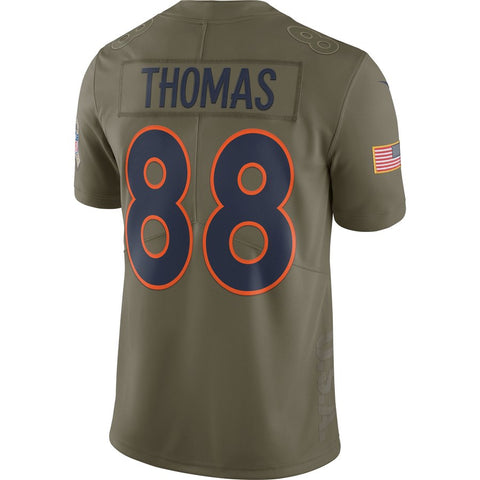 Top Nike NFL Denver Broncos #88 Demaryius Thomas Salute To Service