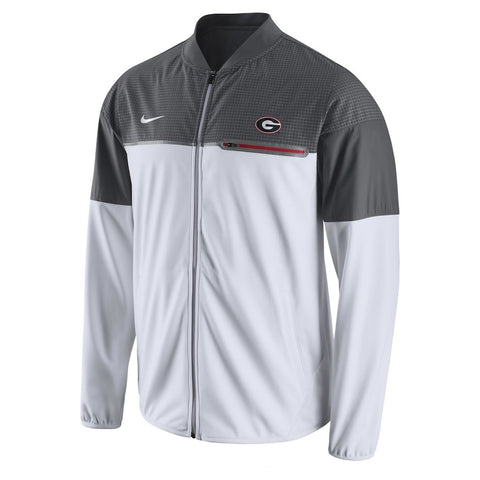 Nike NCAA Georgia Bulldogs Flash Hybrid Full-Zip Performance Jacket White/Gray