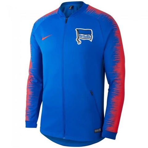 Nike Official 2018-2019 Hertha Berlin Anthem Jacket 920055-439 Blue
