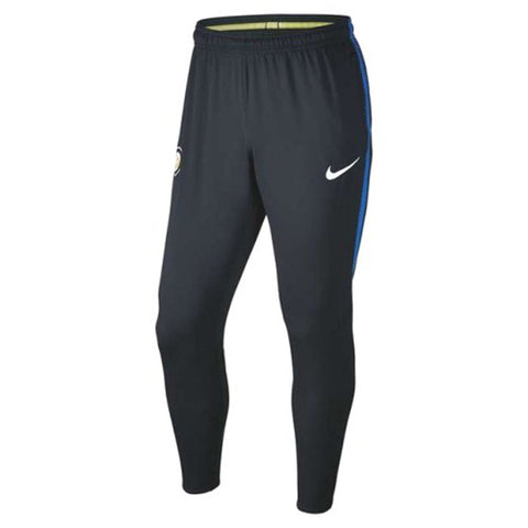 Nike Official 2017/18 Inter Milan Dry Squad Pants 855399-010 Black/Royal Blue