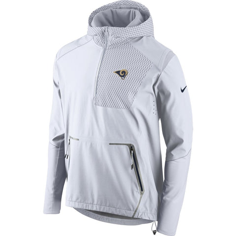 Nike NFL Los Angeles Rams Champ Drive Vapor Speed Fly Rush Flash Half-Zip Pullover Jacket White