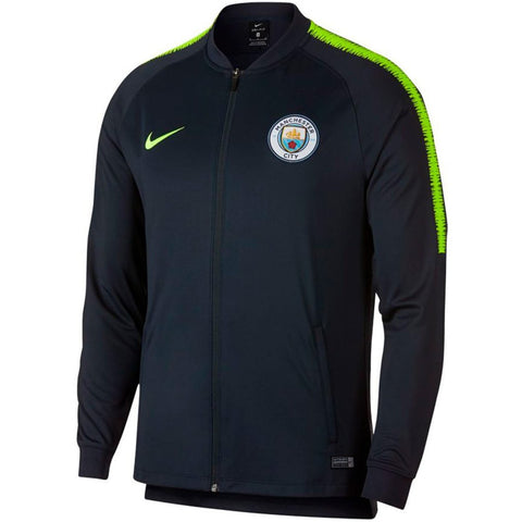 Nike 2018/19 Manchester City Dry Squad Jacket 924744-475 Dark Obsidian/Yellow