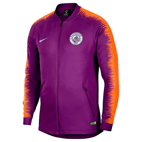 Nike Official 2018-2019 Manchester City Anthem Jacket 894363-541 Purple