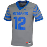 Nike Collage Memphis Tigers Game Football Jersey Grey #12