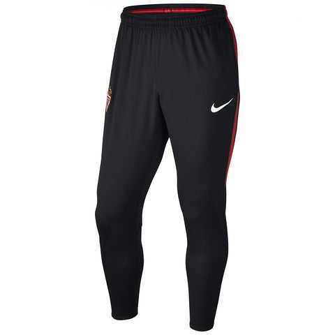 Nike Official 2017/18 AS Monaco Dry Squad Pants 855539-010 Black/Red