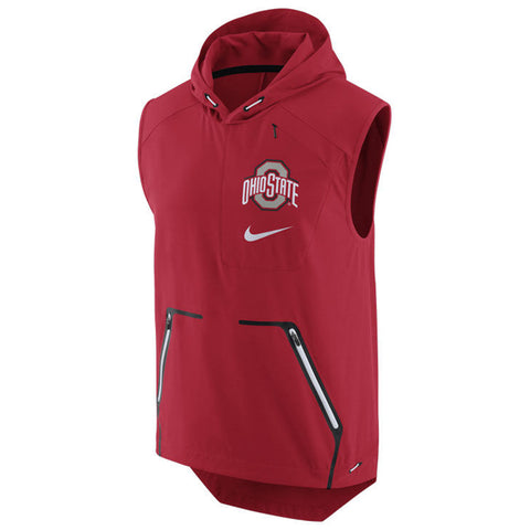 Nike NCAA Ohio State Buckeyes Alpha Fly Rush Performance Hooded Vest Red