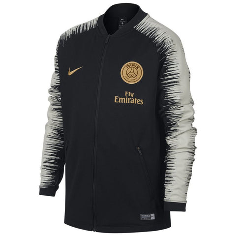 Youth Nike Official 2018-2019 PSG  Paris Saint Germain Anthem Jacket 894414-013 Black/Gold