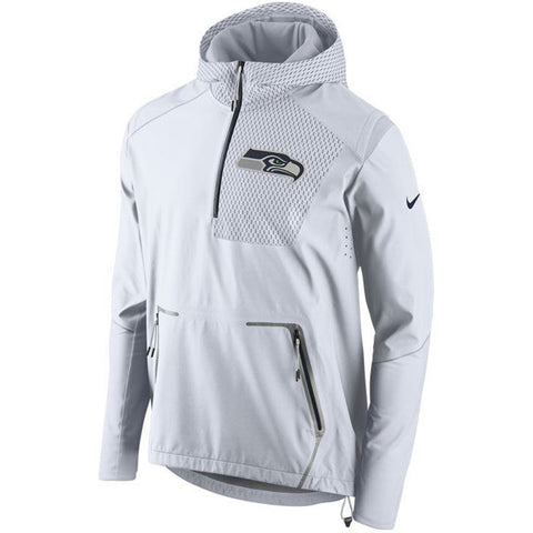 Nike NFL Seattle Seahawks Champ Drive Vapor Speed Fly Rush Flash Half-Zip Pullover Jacket White