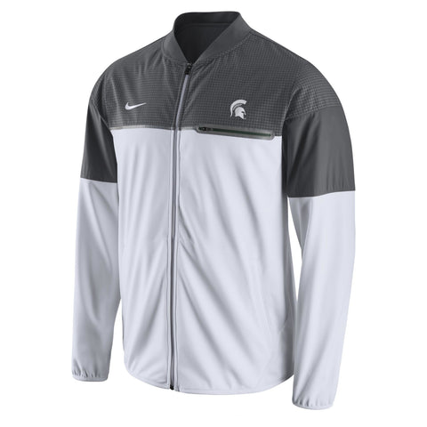 Nike NCAA Michigan State Spartans Flash Hybrid Full-Zip Performance Jacket White/Gray