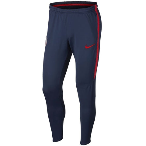 Nike Official 2018/19 USA Soccer Dry Squad Pants 893557-410 Navy/Red