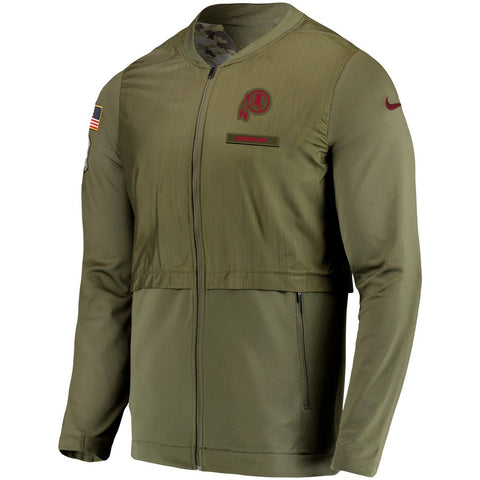 Nike NFL Washington Redskin Salute to Service Sideline Elite Hybrid Full-Zip Jacket Olive