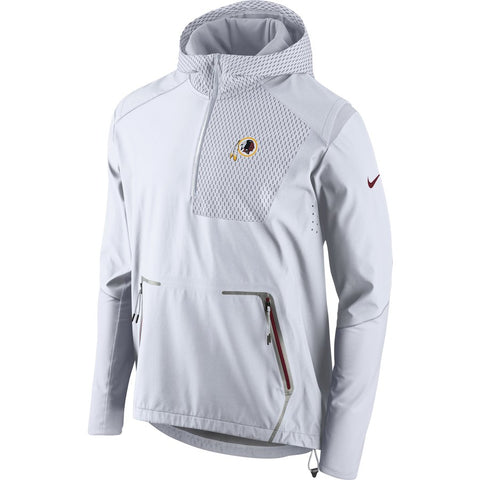 Nike NFL Washington Redskins Champ Drive Vapor Speed Fly Rush Flash Half-Zip Pullover Jacket White