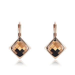 Roxi Champagne Crystal Stud Earrings