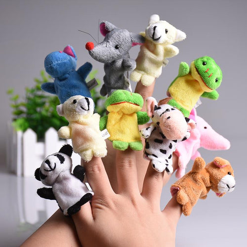 5 piece Family Finger Plush Puppet Toys