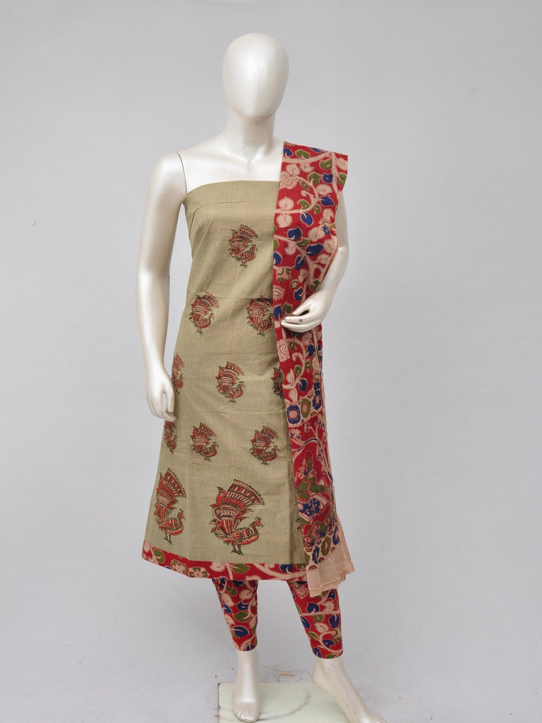 Ladies Dress Material Doll Drop Kalamkari  [D70526099]