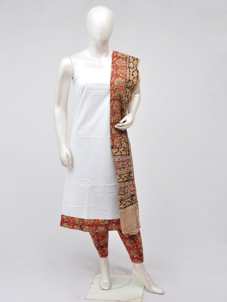 Kalamkari Designer Patch Dress Material [D70402040]