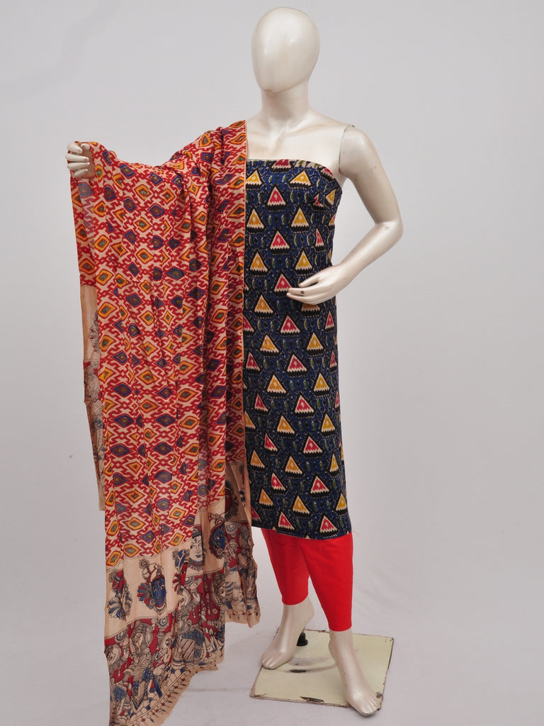 Kalamkari silk dress material Model 3 [D90315039]