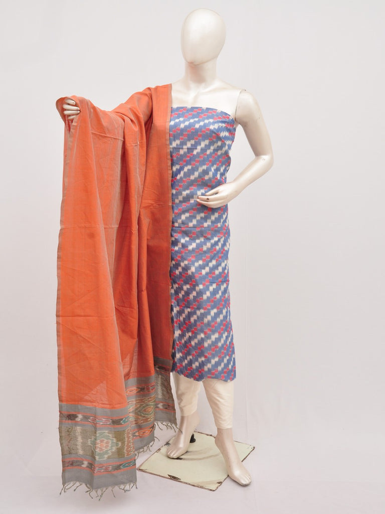 Mercerised Ikkat Cotton-Silk Designer Dress Material [D91126039]