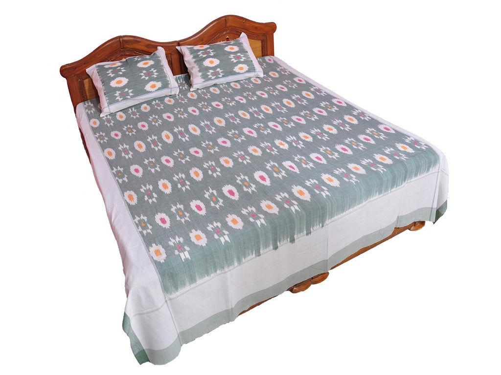 Pochampally Ikkat Cotton Double Bedsheet  [D1153201]
