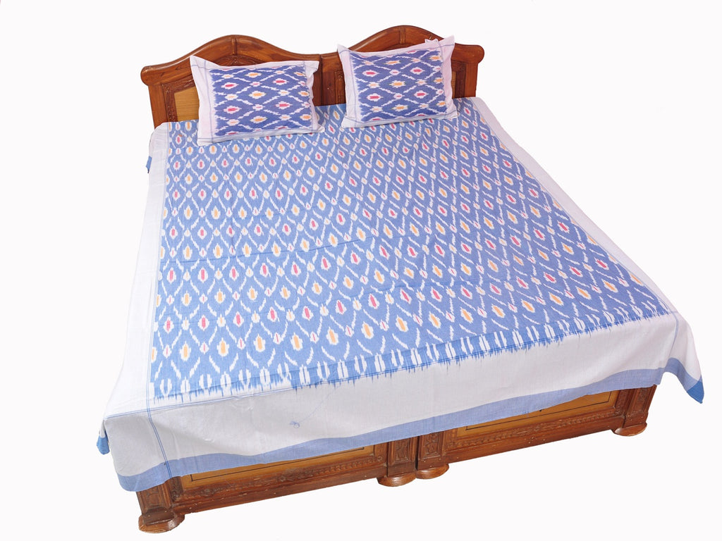 Pochampally Ikkat Cotton Double Bedsheet  [D1153211]