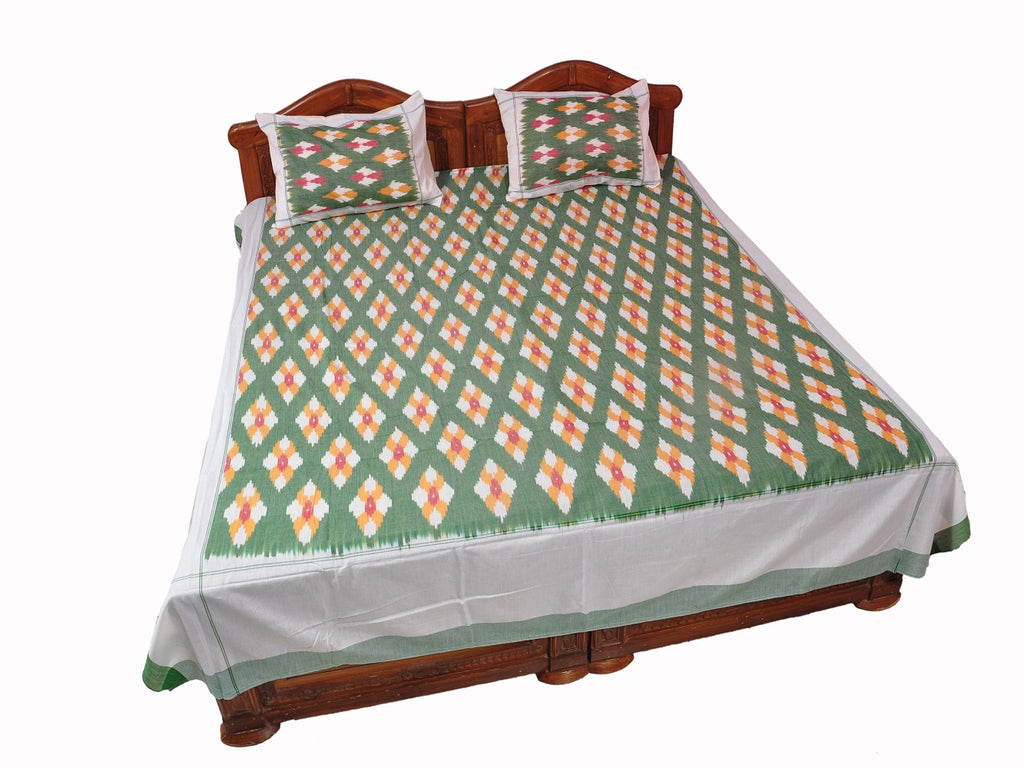 Pochampally Ikkat Cotton Double Bedsheet  [D1153218]