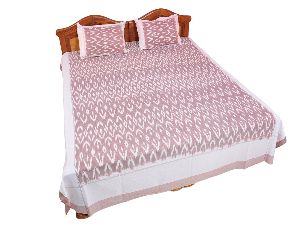 Pochampally Ikkat Cotton Double Bedsheet  [D1153223]