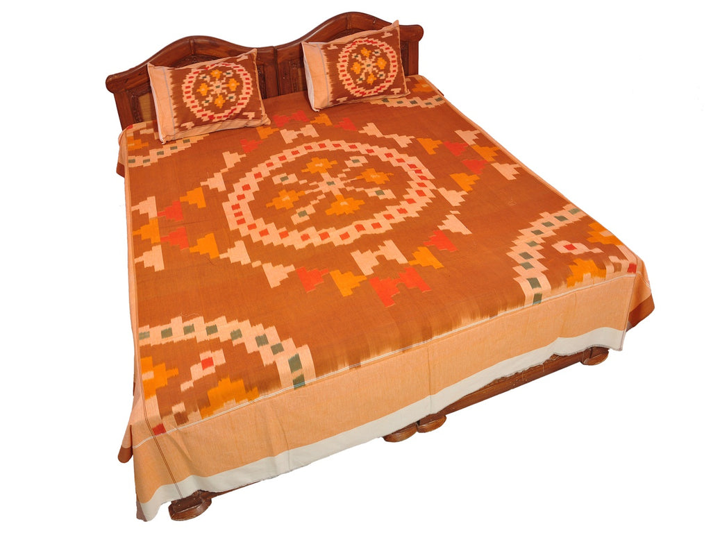 Pochampally Ikkat Cotton Double Bedsheet  [D1153232]