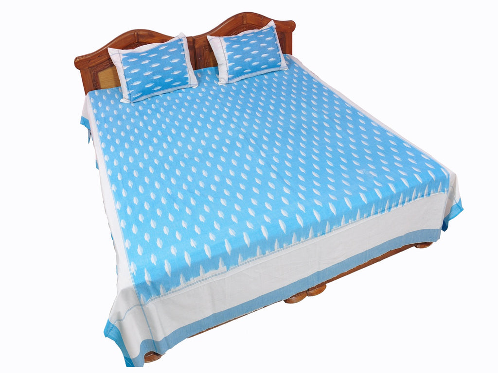 Pochampally Ikkat Cotton Double Bedsheet  [D1153237]