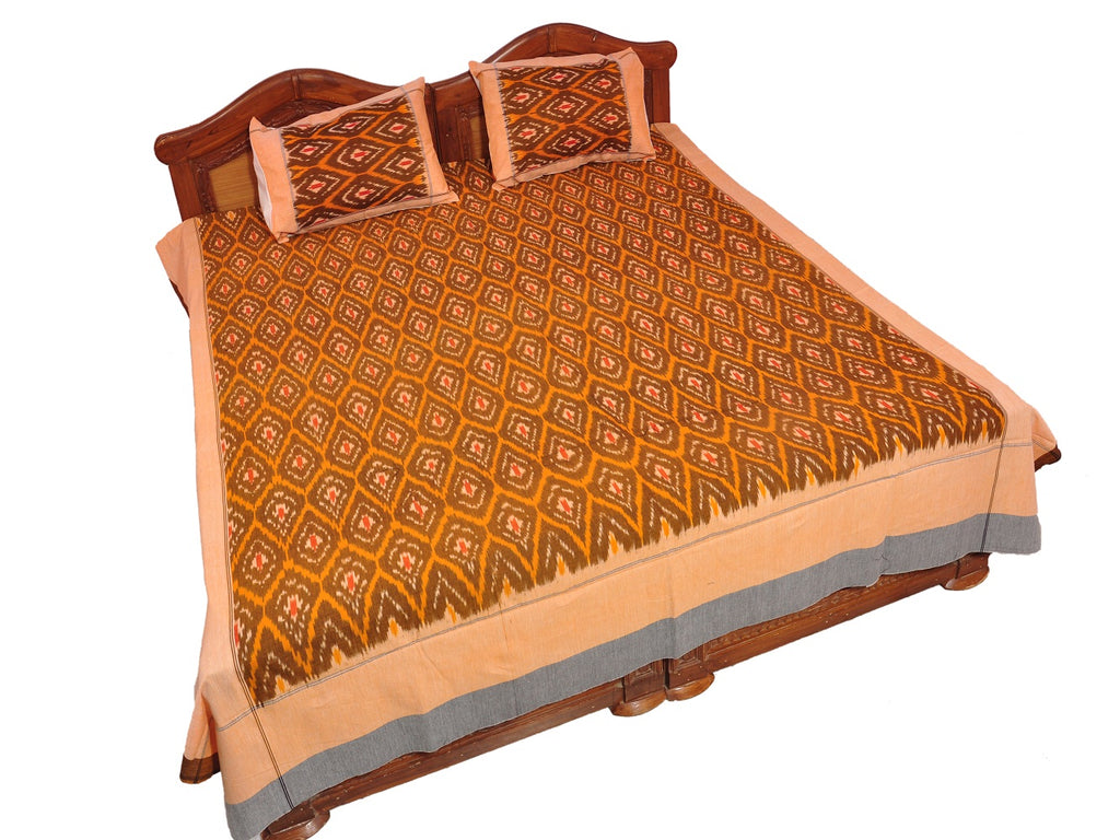 Pochampally Ikkat Cotton Double Bedsheet  [D1153247]