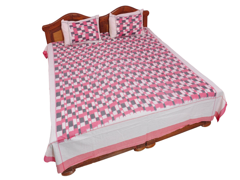 Pochampally Ikkat Cotton Double Bedsheet  [D1153253]