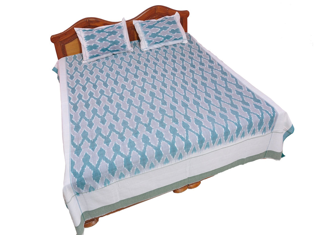 Pochampally Ikkat Cotton Double Bedsheet  [D1153254]