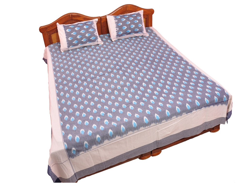 Pochampally Ikkat Cotton Double Bedsheet  [D1153258]