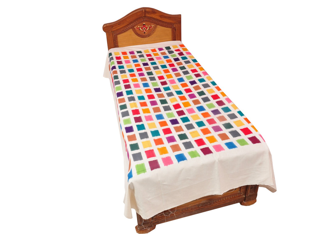 Pochampally Designer Cotton Single Bedsheet [D10332782]