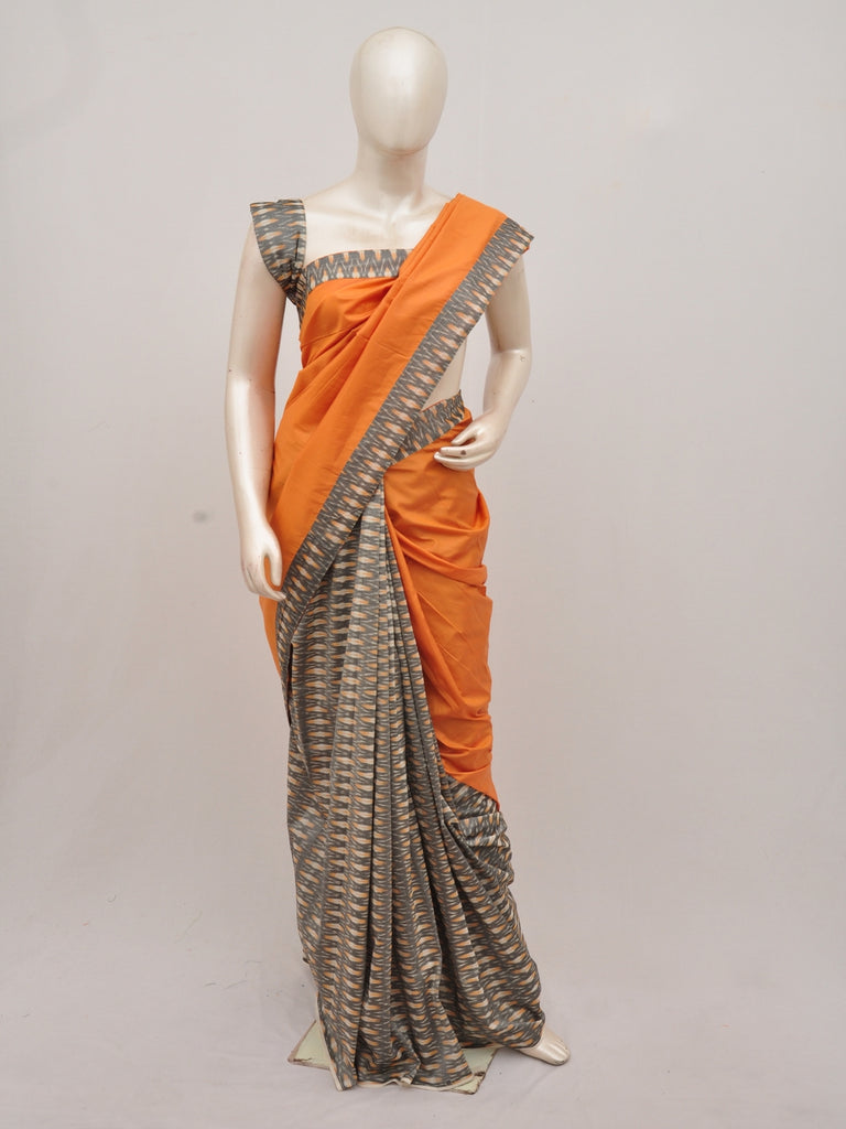 Pochampally Silk Designer Partly-Pallu Saree D[90830016]