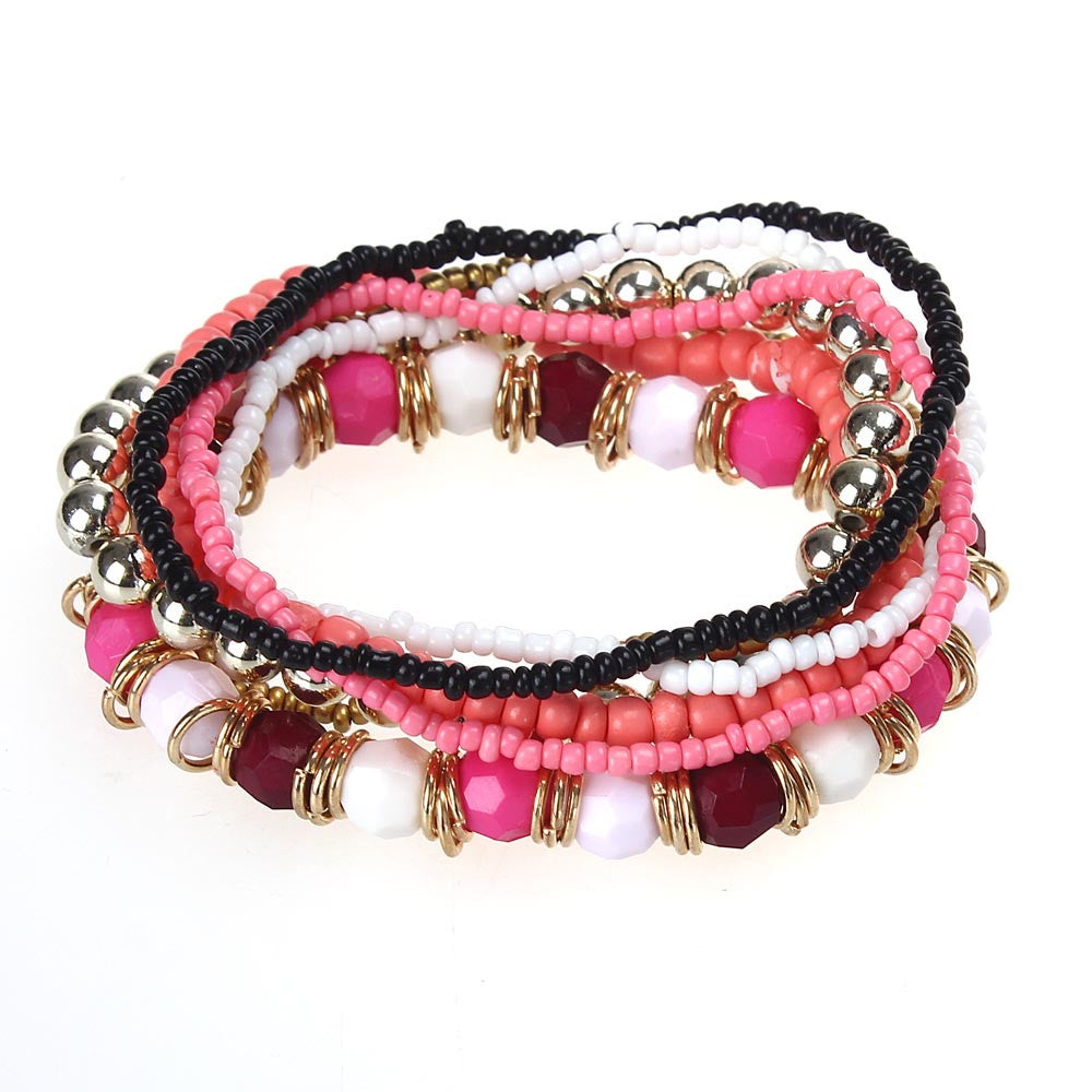 com wholesale black bracelet boho amazon multilayer jewelry set beads susenstone beach dp acrylic