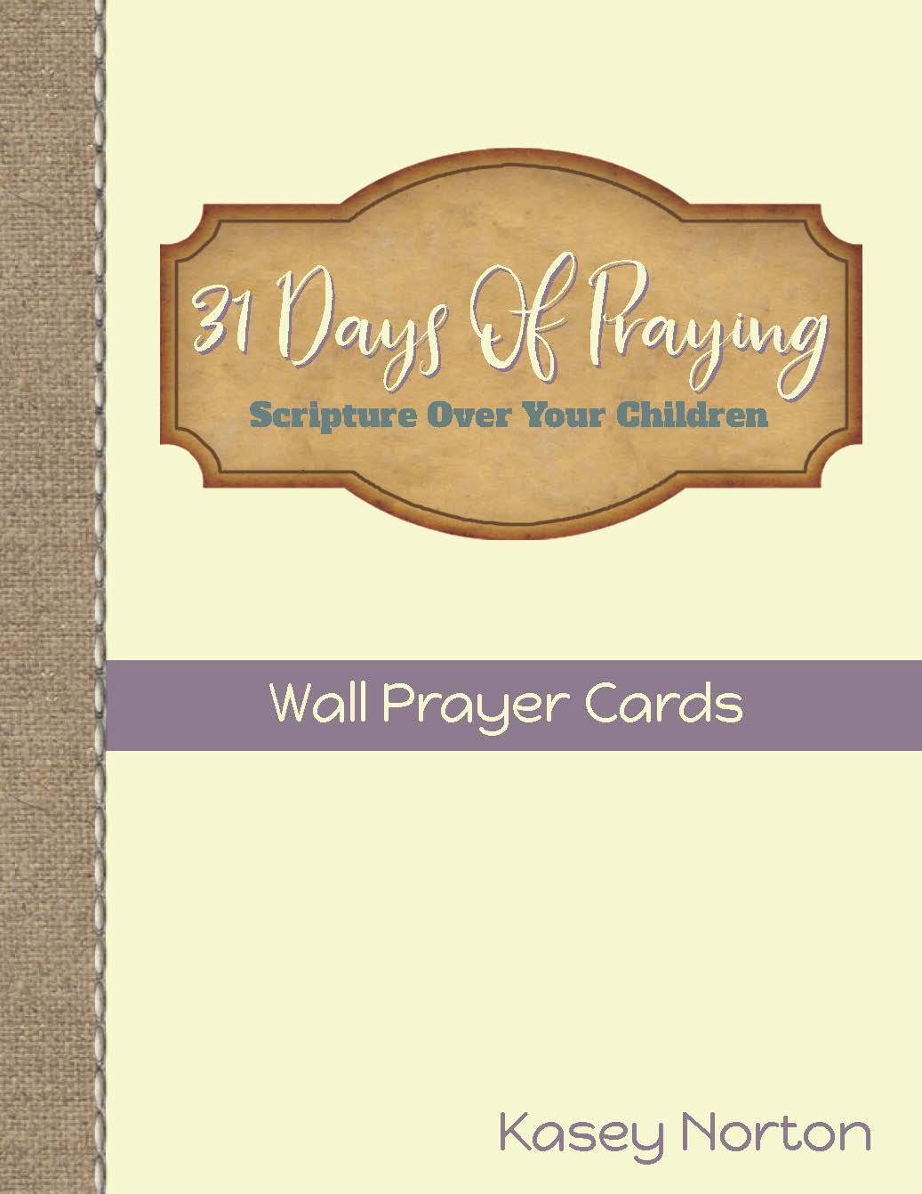 31 Days of Praying - Wall Prayer Cards