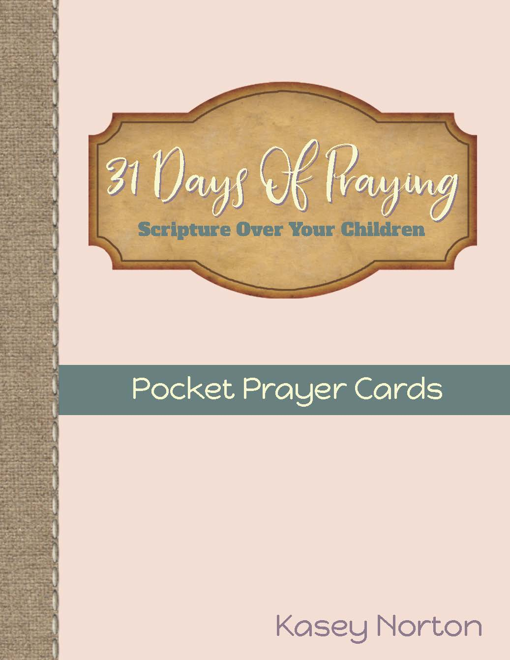 31 Days of Praying Pocket Prayer Cards - Walking Redeemed