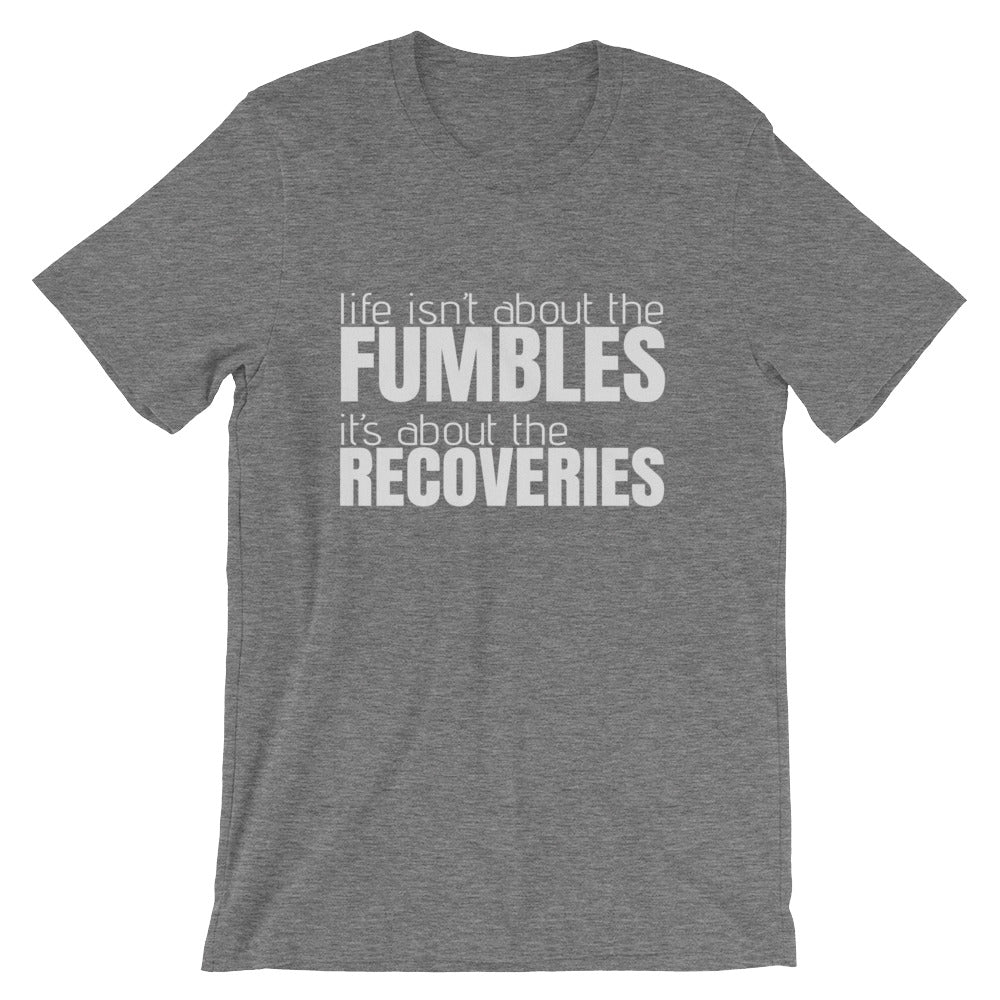 """Life isn't about the FUMBLES"" - Short-Sleeve Men's T-Shirt - Walking Redeemed"