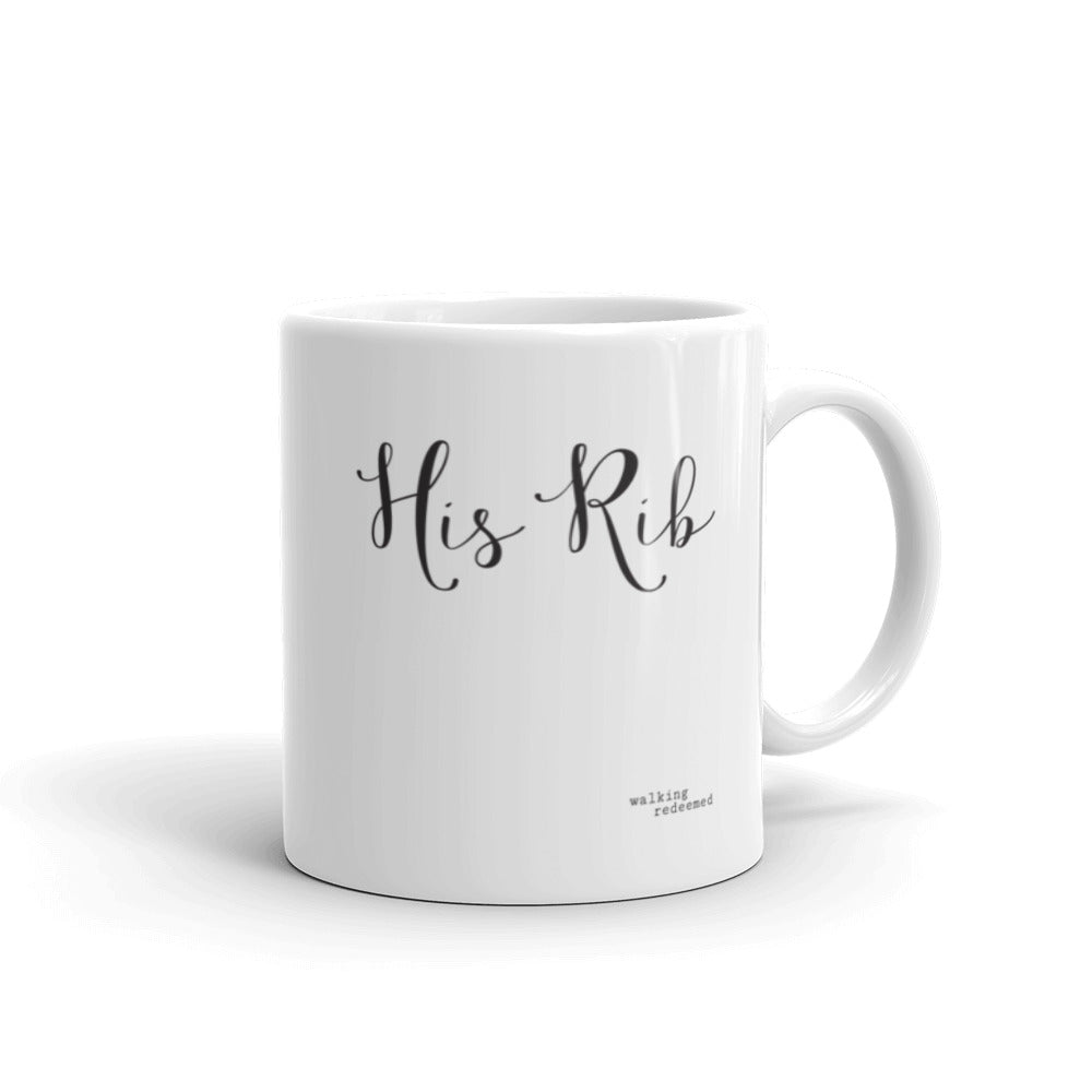"""Her Heart His Rib"" Mug - Walking Redeemed"