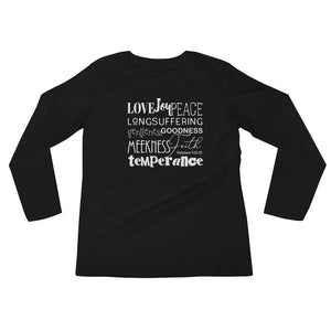 """Fruits of the Spirit"" - Ladies' Long Sleeve T-Shirt - Walking Redeemed"