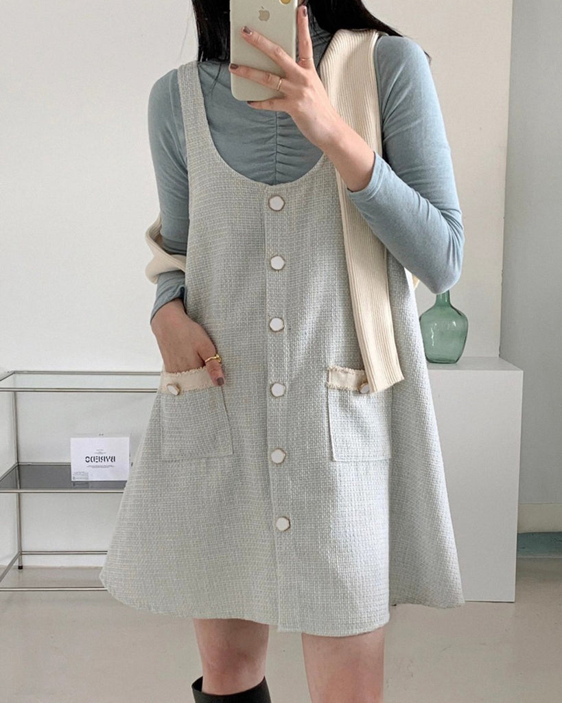 Tyna Tweed Pinafore Short Ops