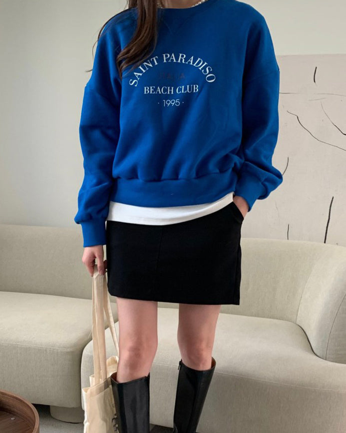 1995 Italia Beach Club Pullover (Blue)
