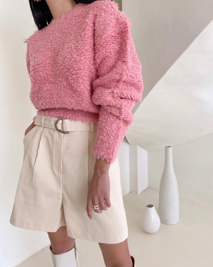 Oaklyn Textured Knit Pullover (Pink)
