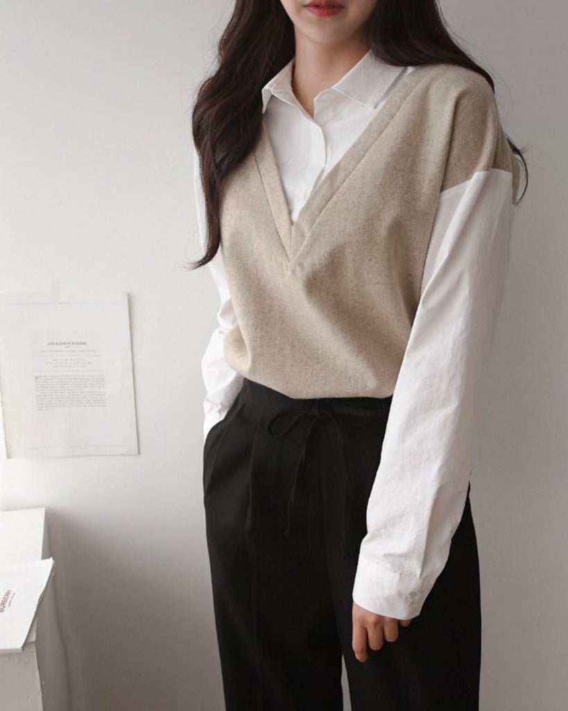 Faux Layered Shirt